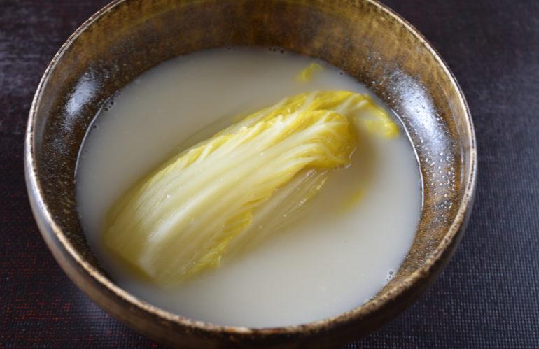 白菜の白湯煮込み